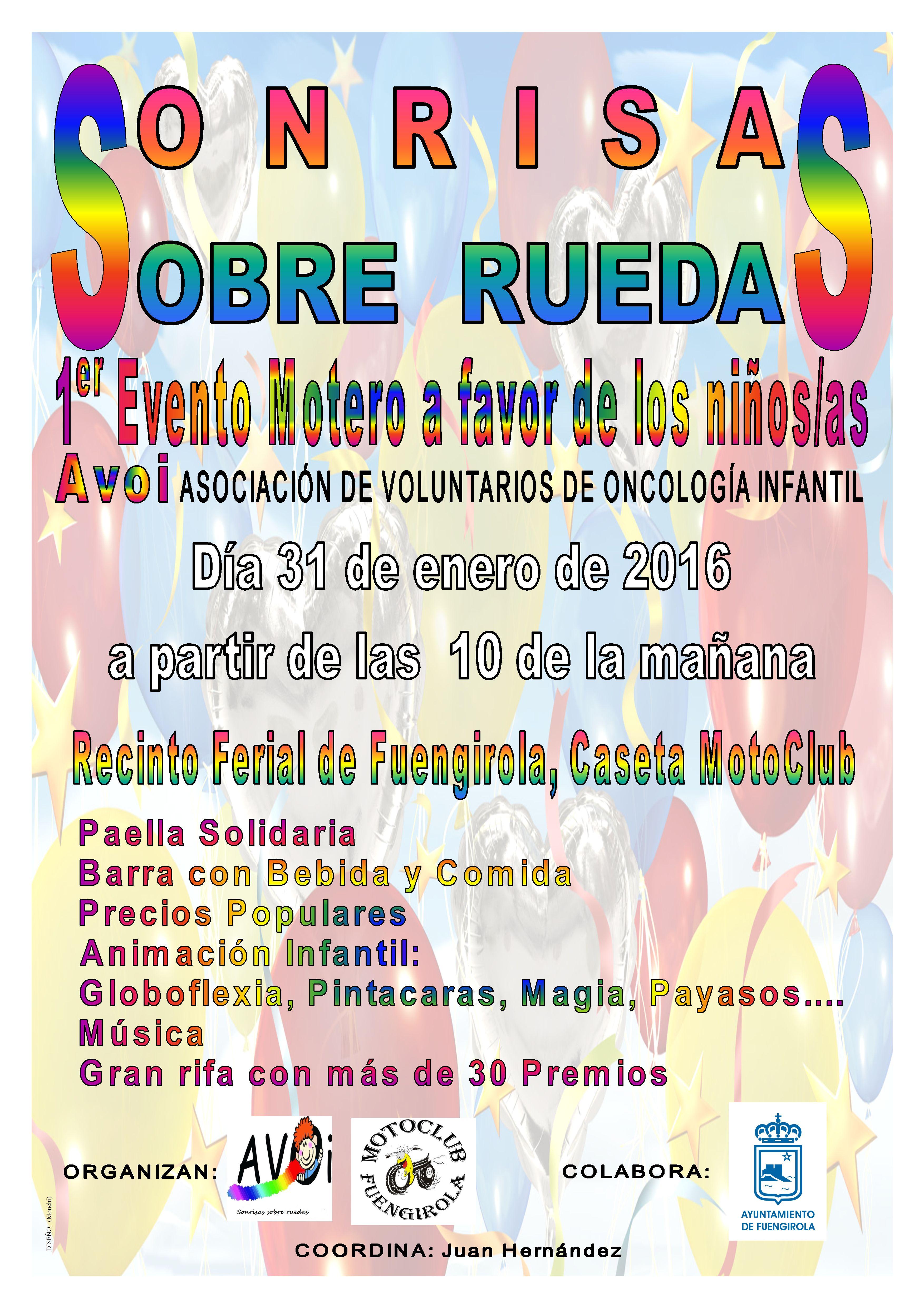 EVENTO MOTERO A FAVOR DE LOS NIÑOS CON CANCER DE MALAGA 31-01-16